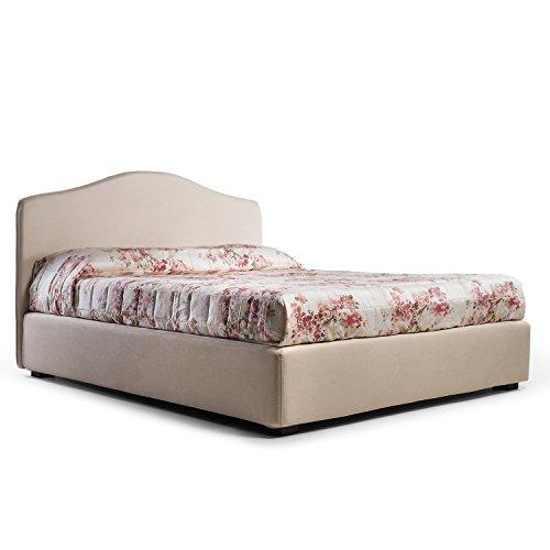 Goldflex letto contenitore matrimoniale ampio con testiera elevata e piedini in diverse - Letto matrimoniale 160x190 ...