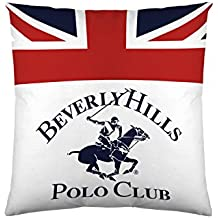Beverly Hills Polo Club Funda De Cojín Madison Blanco/Azul/Rojo 60 x 60