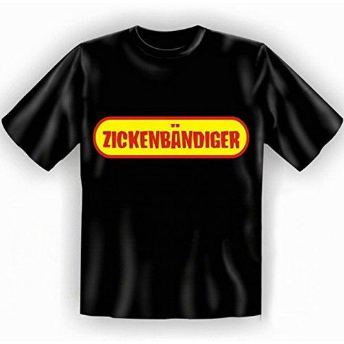 Witziges Fun-shirt - Tshirt als Geschenk mit Minishirt - Schwarz - Zickenbändiger Schwarz