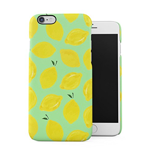 Zitron Pastel Citrus Fruits Pattern Dünne Handy Schutzhülle Hardcase Aus Hartplastik Hülle für iPhone 6 PLUS/iPhone 6S PLUS Handyhülle Case Cover