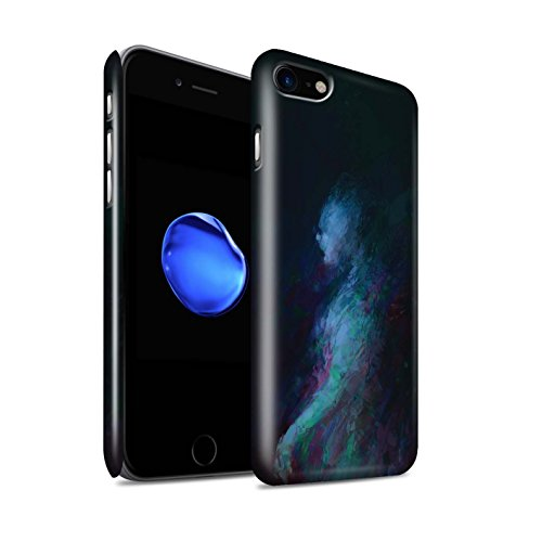 Offiziell Chris Cold Hülle / Glanz Snap-On Case für Apple iPhone 8 / Getarnte Teufel Muster / Dunkle Kunst Dämon Kollektion Geist/Ghul