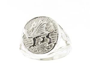 925 Sterling Silver Mens Welsh Dragon Ring Size S - Made in Uk