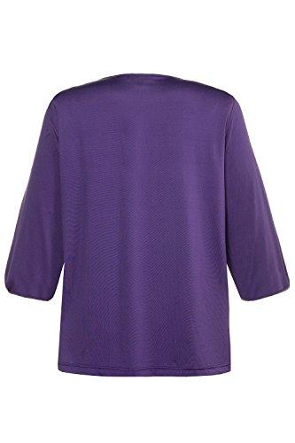 Ulla Popken Femme Grandes Tailles | T-Shirt Plis Fantaisie | 713897 pourpre foncé