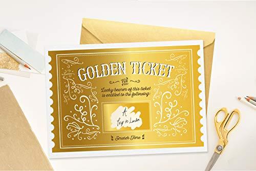 Surprise Scratch Off Goldenes Ticket Überraschungskarte/Geschenkkarte/Geburtstag/Geschenk/Weihnachten/Valentinstag/Muttertag