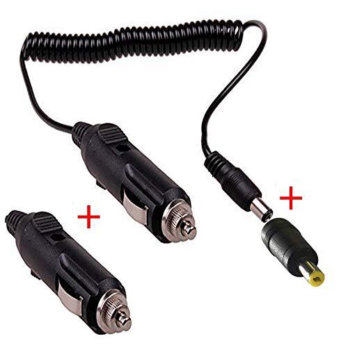 RUNCCI DC KFZ Zigarettenanzünder Stecker Verlängerungskabel 12V 24V Ladekabel Skalierbar KFZ TV DVD Kabel, Zigarettenanzünder für tragbare DVD-Player, Auto, Bus-Kamera, Auto DVR(Schwarz)