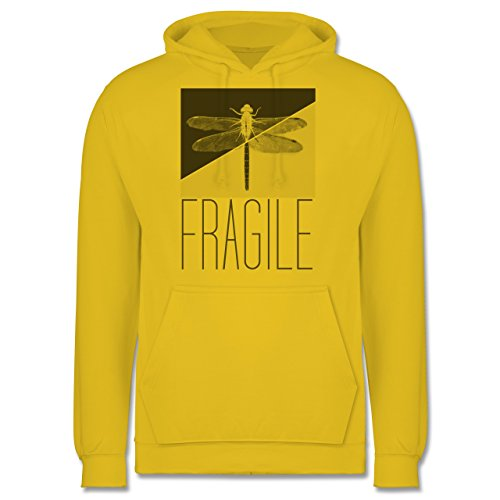 Statement Shirts - Fragile - Libelle - Männer Premium Kapuzenpullover / Hoodie Gelb