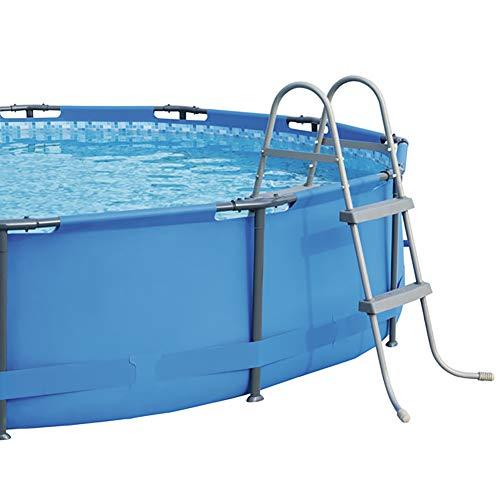Zdylm-y scaletta per piscine telaio in acciaio, per 84 cm altezza parete sopra piscine interrate