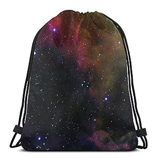 The Rosette Nebula (Edited) Drawstring Shoulder Bags Gym Bag Travel Backpack Lightweight Gym for Men Women 16.9