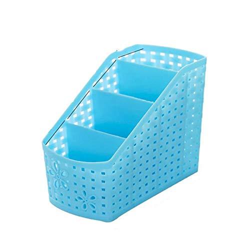 hhuanxiao Aufbewahrungsbox Schreibtisch Lagerung Korb Office Organizer Box aushöhlen Design Tisch kosmetische Veranstalter Halter Fall Organizer