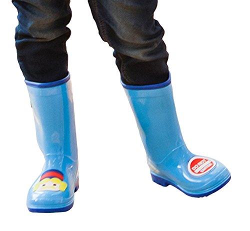 Smile YKK Mignon Bottes de Pluie Imperméable Antiderapant Pour Enfant Bleu
