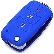 9MOON carcasa de silicona suave con 3botones para llave de VW, Golf, Seat, Skoda (entre otros)