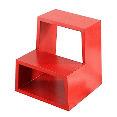QX Hocker IAIZI Fester hölzerner Schemel-Speicher-Schemel-Schemel-Schuh-Schemel-Schritt-Schemel-Tür-Änderungs-Schuh-Bank (Farbe : Red)