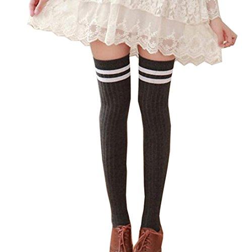 pu ran Damen Kniestrümpfe, Fashion, grau, XH151756416BFYB5434 (Black Knee Boots High Pu)