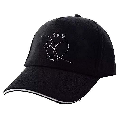 Yovvin BTS Basecap, Unisex Kpop Bangtan Jungen [Love Yourself 結 Answer] Hip-Hop Style Einstellbar Baseball Cap Snapback Hut für Sport & Outdoor(Style 01)