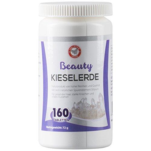 Helping Hands Kieselerde Tabletten, mit natürlichem Silizium, kräftigt Haare, Nägel und Knochen, 160 hochdosierte Tabletten, Vitamine gegen Hautunreinheiten und Haarausfall, Nahrungsergänzungsmittel