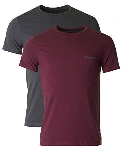 Emporio Armani Herren T-Shirt mit Rundhals-Ausschnitt 7P717111267 Smoke Grey
