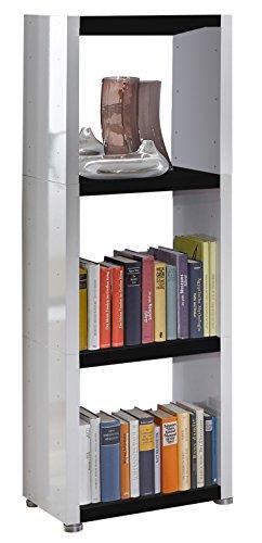 Regalsystem Raumteiler Bücherregal Standregal READY 31 Weiß Schwarz 50 x 140 ...