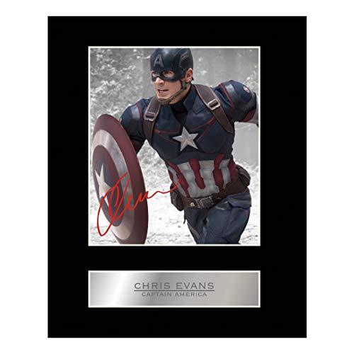 Chris Evans Signiert Foto Display Captain America # 01 - Evans Foto