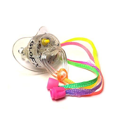(GloFX Pacifier Rave führte weiche Licht Toy Halskette - leuchtende RGB Stil blinkt - 4 Farben Blinky Lichter)