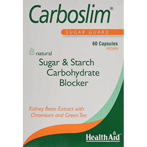 412vOKG5LUL. SS500  - HealthAid Carboslim - Kidney Bean Extract - 60 Vegan Capsules