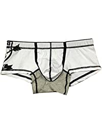 TOOGOO(R) New Men Men's Cool Underwear Mens Boxer Brief Underpants -White, L