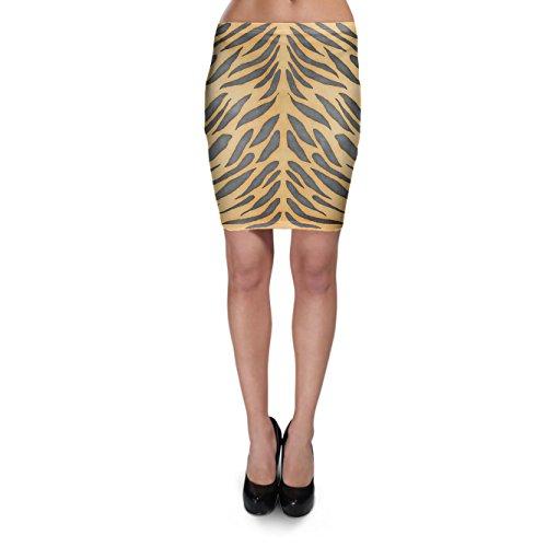 Tiger-print-rock (Tiger Print Bodycon Skirt - XS Rock XS-3XL)