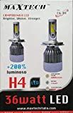 PAR de lámparas de LED para coche Moto C6 H4 6000 K faros Luz blanca bombillas 8000 lúmenes