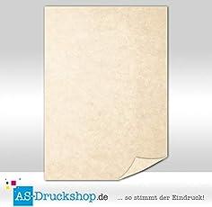 Marmorpapier - Imperial - Sahara-beige / 50 Blatt/DIN A5 / 90 g-Offsetpapier