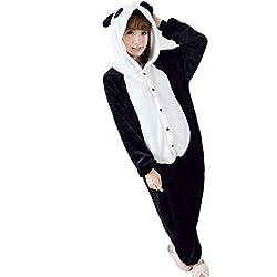 Emmarcon - Disfraz de carnaval halloween pijama cálido de animales kigurumi cosplay zoológico onesies S/altezza 149-159cm,max 60kg Panda