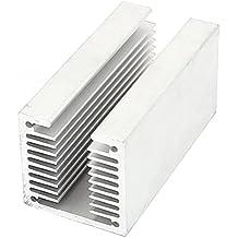 sourcingmap® Silver Tone Aluminium U Slotted Radiactor Heatsink Heat Sink 80mm x 40mm x 40mm