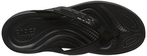 Crocs Caprivsqnflp, Pantofole Donna Nero (Black)