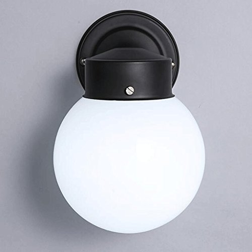 Appliques murales ZHAOJING Chambre Lampe de Chevet Moderne Minimaliste Escalier Salle De Bains Miroir Lampe Avant Creative Boule De Verre Petite Murale Lampe 3 w LED E27 (Couleur : Lumière Blanche)