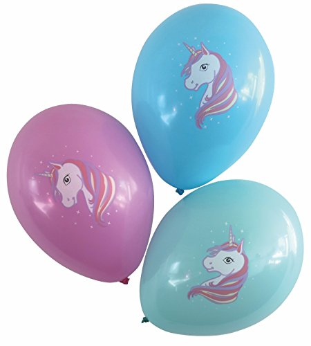(Karaloon 30024-C - Ballons - Einhorn, 15 Stück)