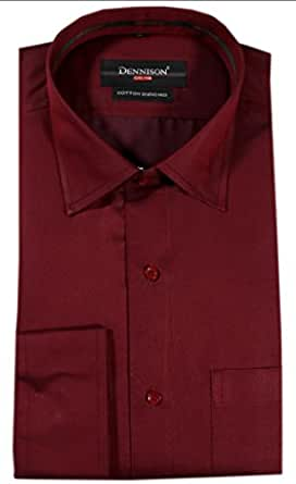 Dennison Mens Cotton Formal Shirt -Maroon -44