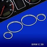 untr10e30–Chromé tachoringe Convient pour BMW E30Bj. 12/1982–06/1994,