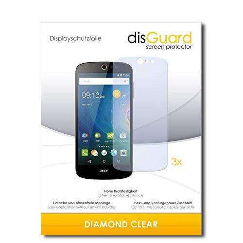 3 x disGuard® Schutzfolie Acer Liquid Z530 Bildschirmschutz Folie