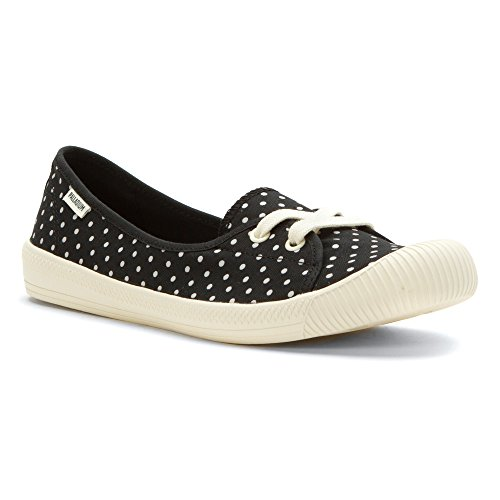 Palladium Womens Flex Ballet PD Boat Shoe Black/antique White/polka Dots