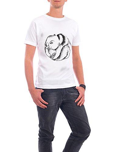 """Design T-Shirt Männer Continental Cotton """"Koala"""" - stylisches Shirt Tiere Geometrie Natur von Sarah Poley Weiß"""