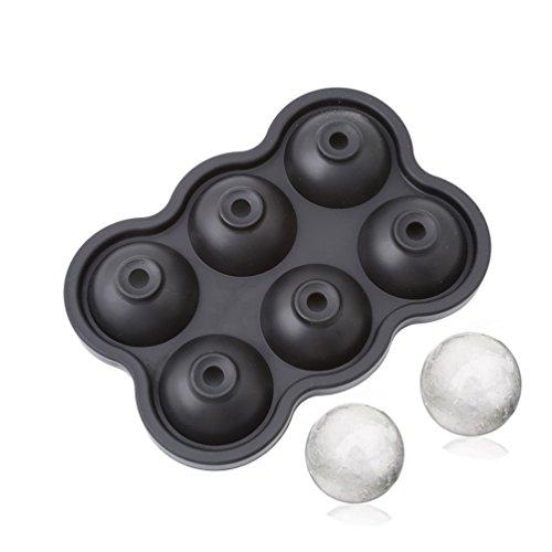 Albeey Silikon Eiswürfelform Ice Ball Maker (schwarz)