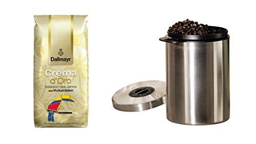 Dallmayr Kaffee Selektion des Jahres aus 1000g Kaffeebohnen, 1er Pack (1 x 1000 g) + Edelstahldose für 1 kg Kaffeebohnen von James Premium®