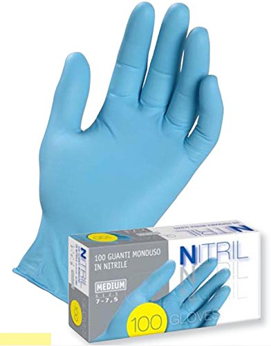 Guanti medicale in nitrile monouso senza polvere icoguanti taglia s 10x100 pezzi
