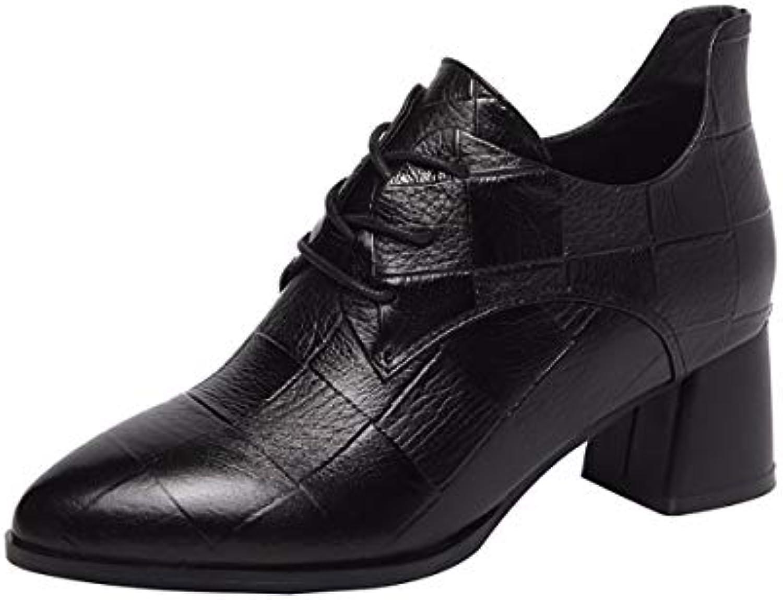 KOKQSX-Signore Gli Stivali di Cuoio Caldo alla Moda Comodi Comodi Comodi Scarpe di Cuoio. 36 nero | tender  | Scolaro/Signora Scarpa  23417b