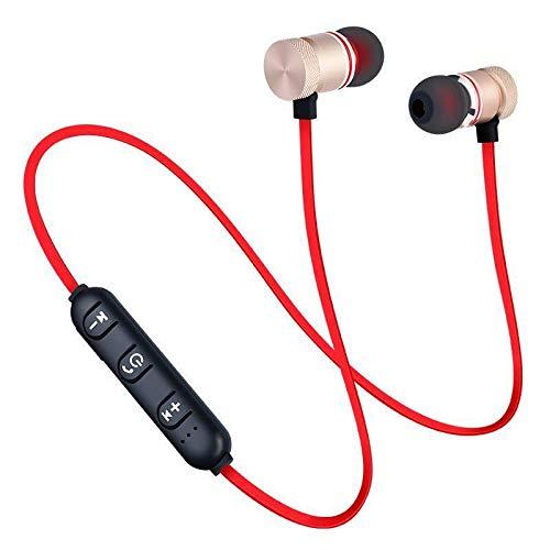 Univerix, Auricolari Bluetooth 4.2, Wireless, con Fascia da Collo, per Allenamento, Corsa, Jogging (Oro)