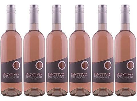 Emotivo Pinot Grigio Blush Rose Wine 75 cl (Case of