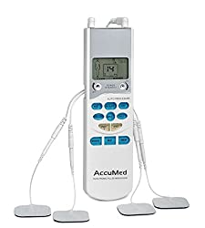 AccuMed AP109 Portable TENS Unit Electronic Pulse Massager Simple and Fast Pain Relief with 8-in-1 Functionality. FDA Approved with Clinically Proven, Professional Effectiveness for Home Medical Use