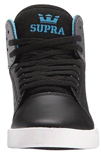 Supra-Atom-Scarpe da ginnastica alte, da ragazzo Black/Charcoal