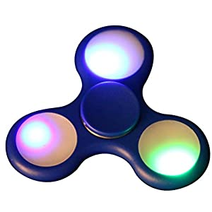 Bescita LED Licht Fidget Hand Spinner Torqbar High Speed Finger Spielzeug EDC Focus Gyro (blau)