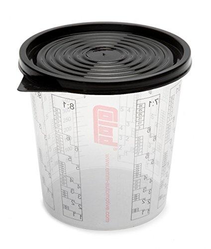 Preisvergleich Produktbild 50 x COLAD Mischbecher mit Maßstab 2300 ml LACK FÜLLER - Becher mit Deckel