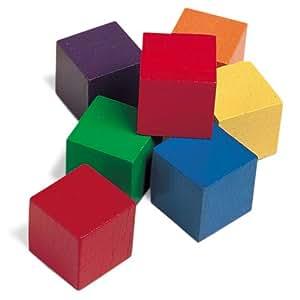 RESSOURCES D'APPRENTISSAGE LER0136 cubes 1 COLOR-100/PK SIX COULEURS