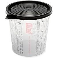 50 x COLAD Mischbecher mit Maßstab 700 ml LACK FÜLLER - Becher mit Deckel